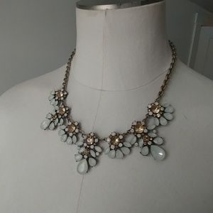 Francesca's mint and gold statement necklace